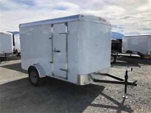 NEW 2018 TNT 6x10 ROUND TOP ENCLOSED CARGO TRAILER REAR RAMP