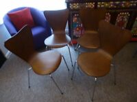 dining chairs from ikea x 4 dark brown in very good condition
