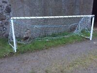Solid steel 5 aside football pair of goal