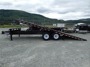 NEW 22' POWER-TILT DECK-OVER EQUIPMENT TRAILER 14K