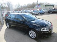 Audi A3 TDI E SE 5d 103 BHP service history (black) 2009