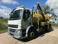 2012 12 DAF LF 55.220 WHALE High volume jet/vacuum 1700 gallon tipping tanker