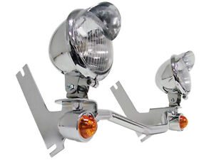Driving Passing Turn Signal SpotLight Bar For Harley Touring Road King Glide FLH