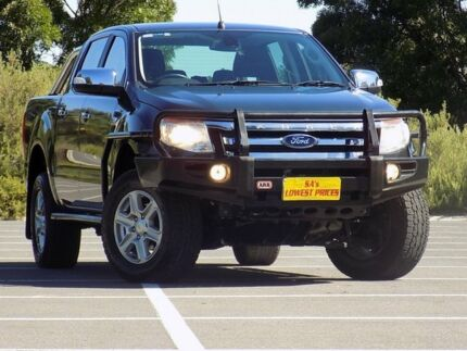 2012 Ford Ranger PX XLT Double Cab Grey 6 Speed Sports Automatic Utility Blair Athol Port Adelaide Area Preview