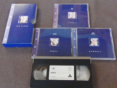 ABBA The Collection JAPAN Mail-Order Only 3CD+VHS SET UDCP-218~220,UVSN-221