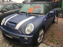 2006 Mini Cooper S CABRIOLET Blue Manual Convertible Croydon Burwood Area Preview