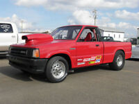 will be at the Red Deer Swap Meet 1985 Mazda Drag race truck