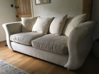 White/cream sofas 1 x 2 seater 1 x 3 seater (3 seater is a sofa bed) sold as set or individual