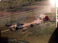 Farm House, Garage, Barn