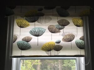 """2 x 34"""" wide blinds with coordinating mini valance"""