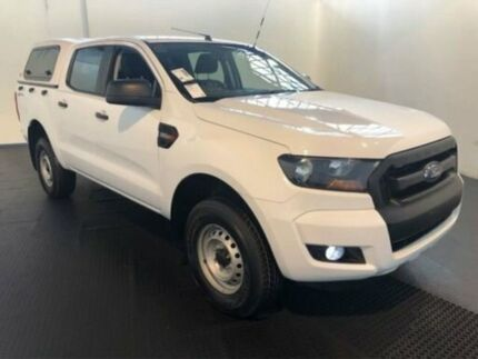 2016 Ford Ranger PX Mkii MY17 XL 2.2 HI-Rider (4x2) White 6 Speed Automatic Crew Cab Pickup Clemton Park Canterbury Area Preview