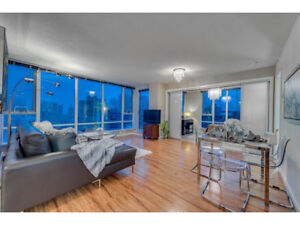 Beautiful 3 bedroom water view unit at TV Towers in Yaletown