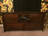 Gorgeous Large Solid Wood Six Drawer Chest from Lombok.
