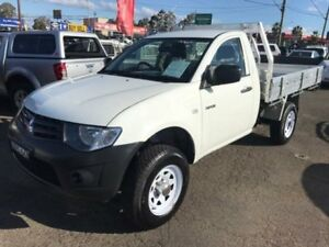 2009 Mitsubishi Triton ML MY09 GL White 5 Speed Manual Cab Chassis Lansvale Liverpool Area Preview