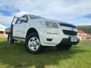 2014 Holden Colorado RG MY14 LX Crew Cab Summit White 6 Speed Sports Automatic Cab Chassis South Burnie Burnie Area Preview