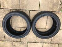 Car Tyres (2 x unused Avon 255/35R18/94Y)
