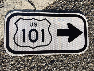 "US 101 California Road Sign 12""x6"" - UNUSED DOT sign - traffic highway road"