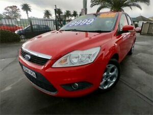 2011 Ford Focus LV MY11 LX Red 4 Speed Automatic Hatchback