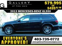 2013 Mercedes GL550 4MATIC $499 bi-weekly APPLY NOW DRIVE NOW
