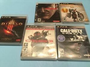 Ps3 Diablo-Metal Gear-Call of Duty-Crisis-God of War-10$chaque