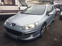 2005 Peugeot 407 with the silver top engine, starts and drives, MOT until 26th February, car located