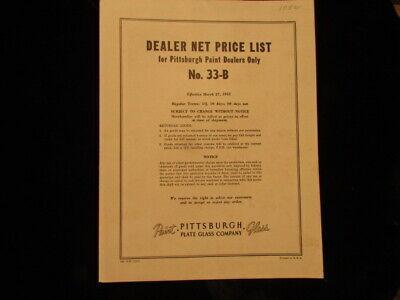 Vintage advertising brochure Pittsburg paints Dealer plate glass guide (Glasses Dealer Guide)