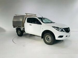 2017 Mazda BT-50 UR0YG1 XT Freestyle 4x2 Hi-Rider White 6 Speed Manual Cab Chassis Cooee Burnie Area Preview