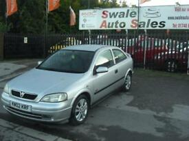 2002 02 VAUXHALL ASTRA 1.8 SRI 16V 3 DOOR VERY CLEAN FOR ITS YEAR