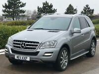 MERCEDES-BENZ M CLASS 3.0 ML350 CDI BLUEEFFICIENCY GRAND EDITION 5d AUTO 231 BHP (silver) 2011