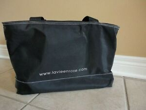 La vie en rose black tote bag gym bag purse