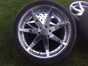 "24"" chrome chevy/gmc 24"" 6x137.9 rims and tires! Need them gone!"