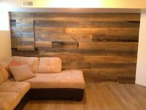 planche de pin blanc et bois style bois de grange