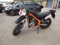 2010 Rieju Tango 50 SuperMotard 50cc 2 Stroke Engine as Aprilia - 6 speed geared Motorbike moped