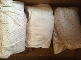 Selection of cot bed fitted sheets in excellent condition
