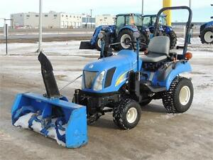 2008 New Holland T1030 Tractor & Front Mount Snow Blower