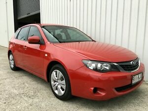 2007 Subaru Impreza G3 MY08 R AWD Red 5 Speed Manual Hatchback Parkwood Gold Coast City Preview