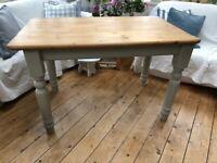 Lovely Pine Farmhouse Dining Table
