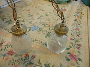 Old brass hanging lamp London Ontario image 2