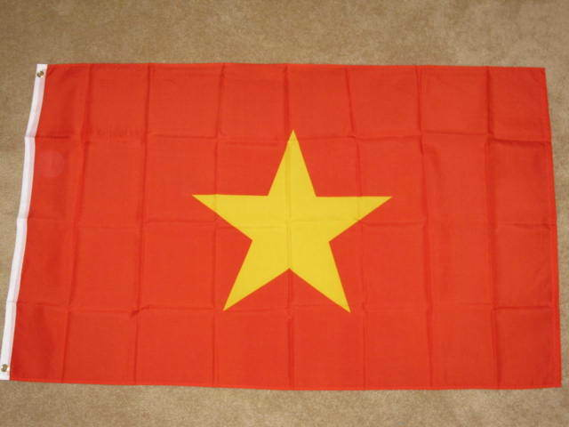 3X5 NORTH VIETNAM FLAG VIETNAMESE FLAGS NVA WAR F536