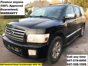 2006 INFINITI QX56 FINANCE 100% APPROVED GUARANTEED WARRANTY