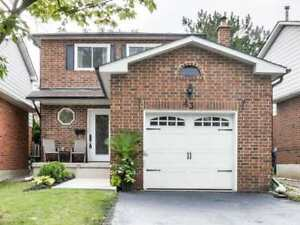 Beautiful Well Kept Detached 3 Bdrm In The Heart Lake Community.