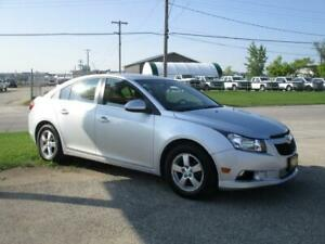 2012 CHEVROLET CRUZE LT, HAS SAFETY AND WARRANTY, $7,450