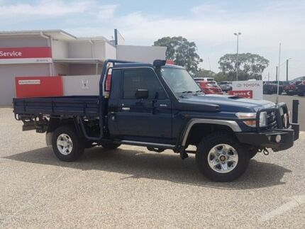 2016 Toyota Landcruiser VDJ79R GXL Midnight Blue 5 Speed Manual Cab Chassis Warwick Southern Downs Preview