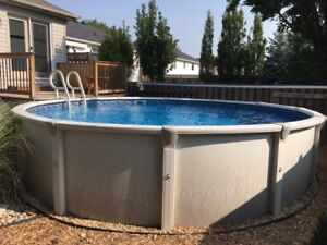 18ft Above gound, heated, salt water pool