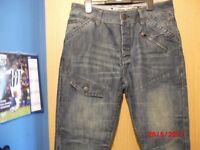 Mens Jeans Waist 34 short leg 29-30 New never worn