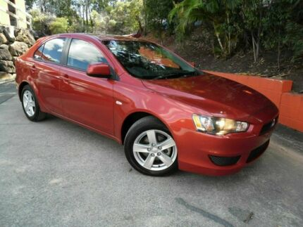 2013 Mitsubishi Lancer CJ MY14 ES Sportback Red 6 Speed Constant Variable Hatchback Ashmore Gold Coast City Preview