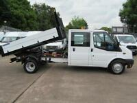 Ford Transit 100 T350 LWB CREW CAB TIPPER SUPER LOW MILES 46K NO VAT