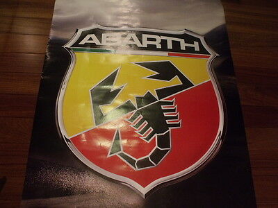 Fiat 500 F L 600 850 124 1100 1200 1500 Abarth poster microcar classic vintage  for sale  Markham