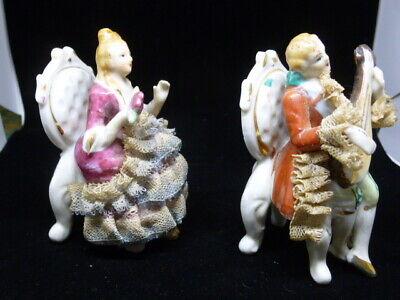 Vintage hand painted Balint Kramlik porcelain bisque doll heads mid century