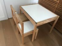 LÄTT IKEA Children's table with 2 chairs